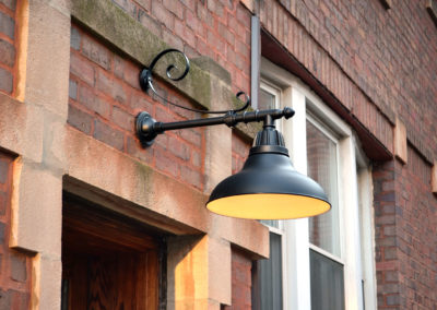 Attractive lighting upgrades over each of our entryways use energy efficient LED lamps.