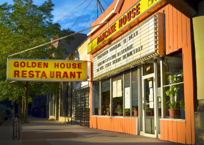The perfect weekend breakfast can be had for cheap at the iconic Golden House diner just a couple doors north.
