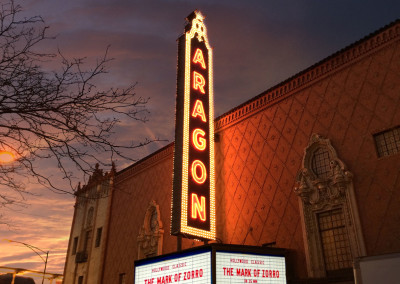 The historic Aragon Ballroom is right around the corner.