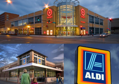 Target and Aldi grocery are very nearby to the south.
