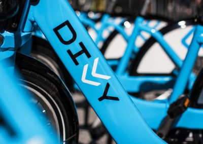 Chicago's DIVVY bike sharing program has a location across the street.