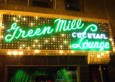 The historic Green Mill Lounge is just north of us.