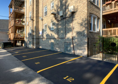 Our 12 private parking space were recently re-sealed and renumbered.